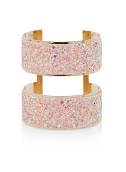Metallic Glitter Cuff Bracelet - 1194018434146