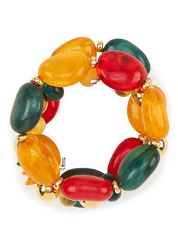 Set of 3 Multi Color Sea Stone Bracelets - 1194035152692