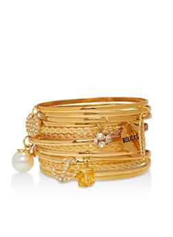 Faux Pearl Rhinestone Bracelets - 1194035153035