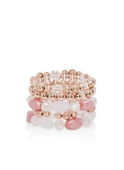 Set of 5 Beaded Stretch Bracelets - 1194035153494