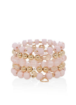 Set of 5 Stretch Charm Bracelets - 1194035153751