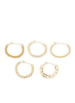Rhinestone Chain Bracelets - 1194035155903