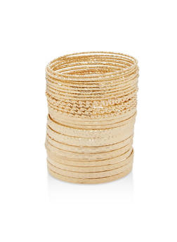 Multi Textured Bangles - 1194057692289