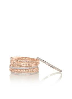 Glitter Crystal Bangle Bracelets - 1194062810274