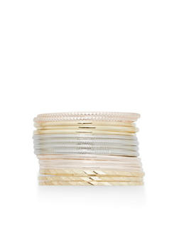 Set of 14 Textured Bangles - 1194062814458