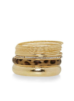 Plus Size Set of 13 Assorted Bangles - 1194062815146