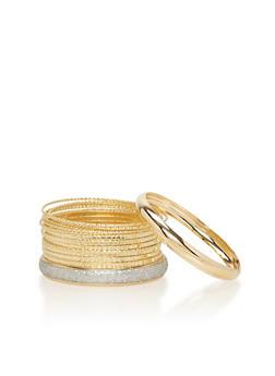 Set of 13 Assorted Bangle Bracelets - 1194062815857