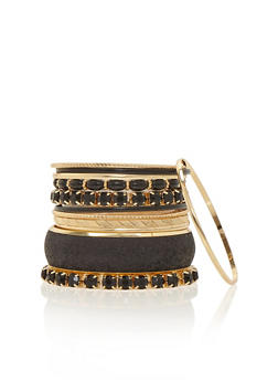 Set of 11 Assorted Chunky and Glitter Bangles - 1194062920646