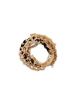Set of 6 Assorted Chain Bracelets - 1194062921329
