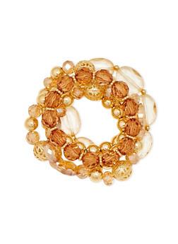 5 Assorted Stretchy Beaded Bracelet Set - 1194062923557