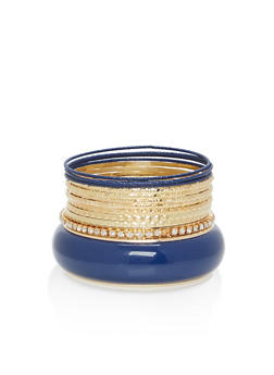 Colored Rhinestone Bangles - 1194062927064
