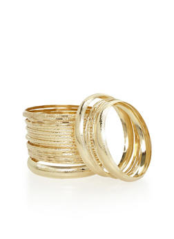 Set of 27 Etched Bangles - 1194062929109