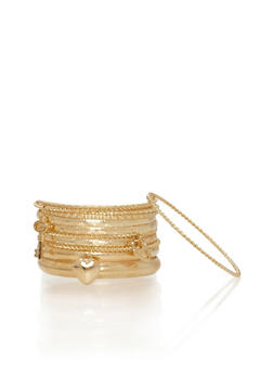 Set of 11 Assorted Bangles with Charms - 1194072692093