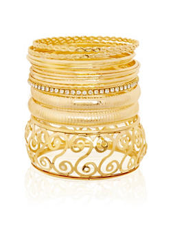 Set of Assorted Bangles - 1194072692285