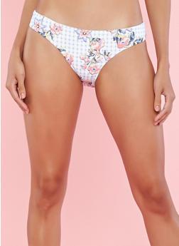 Reversible Floral Print Bikini Bottom - 1201060583050