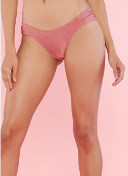 Mauve Ruched Side Bikini Bottom - 1201060585146