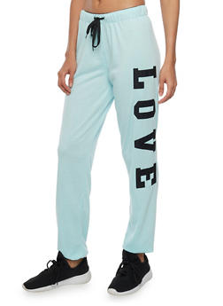 Online Exclusive - Drawstring Joggers with Love Patches - 1285072293300