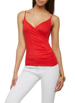 Faux Wrap Soft Knit Cami - 1300015998709