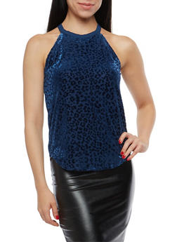 Burnout Velvet Tank Top - 1301015998663