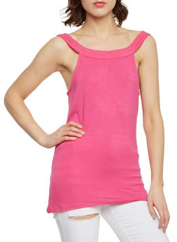 Solid Tunic Tank Top - 1301038347103