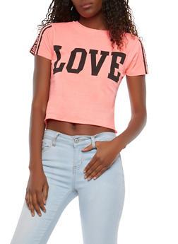 Love Graphic Crop Top - 1302033872884