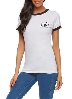 Panda Graphic Ringer Top - 1302033877701