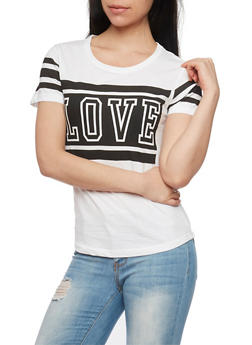 Love Graphic Short Sleeve T Shirt - 1302033878321