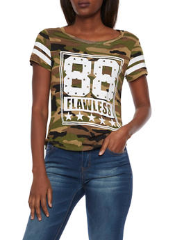 Camo Tee with 88 Flawless Graphic - 1302058756769