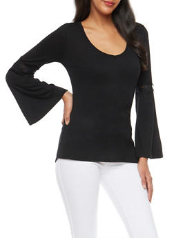Laced Trim Open Back Top - 1304015992231