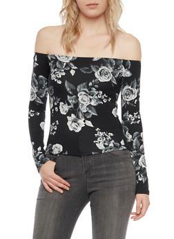 Off the Shoulder Top in Floral Print - 1304054267411