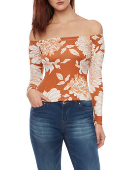 Off the Shoulder Top in Floral Print - 1304054267412