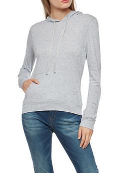 Hooded Long Sleeve Top - 1304054269951