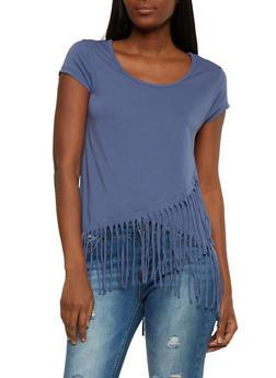 Fringe Hem T Shirt - 1305015997571