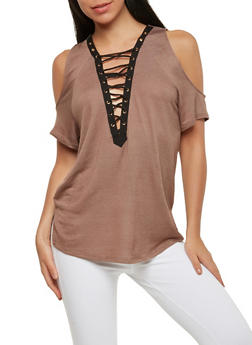 Caged Cold Shoulder Top - 1305058750150