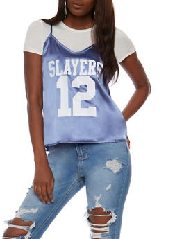 Slayers Graphic Cami Layered T Shirt - 1305058758082