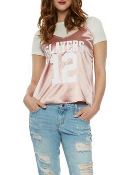 Slayers Graphic Cami Layered T Shirt - 1305058758082