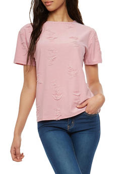 Distressed T Shirt - 1305058759481