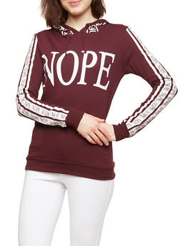 Nope Graphic Hooded Top - 1306033871300