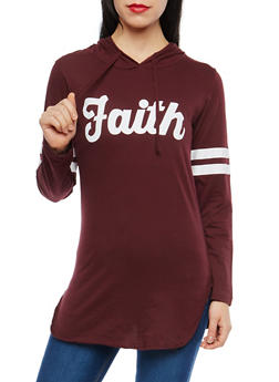Faith Graphic Hooded Top - 1306033877530