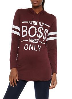 Boss Vibes Graphic Hooded Sweatshirt - 1306033878681