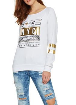 Long Sleeve Graphic Sweatshirt - 1306067330434