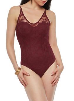 Sleeveless Lace Bodysuit - 1307054265872