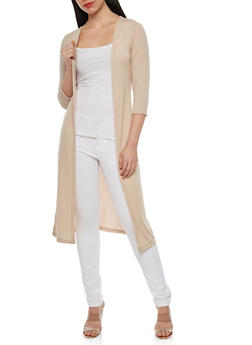 Basic Three Quarter Sleeve Duster - 1308038342210