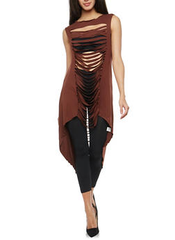 Slashed High Low Maxi Top - 1308058750094