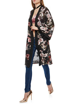 Floral Foil Mesh Duster - 1308074290125