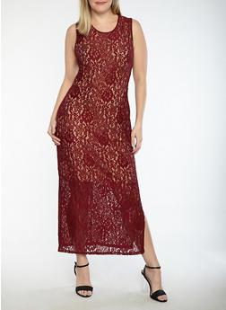 Plus Size Metallic Print Mesh Back Bodycon Dress - 1390056127725