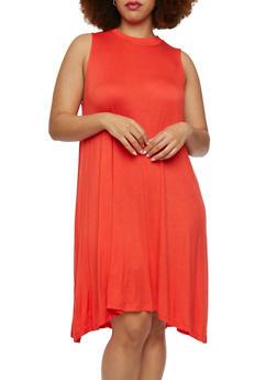 Plus Size Swing Dress - 1390061633979