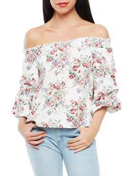 Floral Off the Shoulder Top - 1401069391913