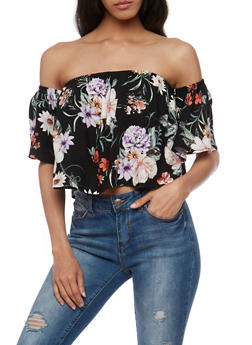 Floral Off the Shoulder Top - 1401069398283