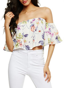 Floral Off the Shoulder Top - 1401069398283